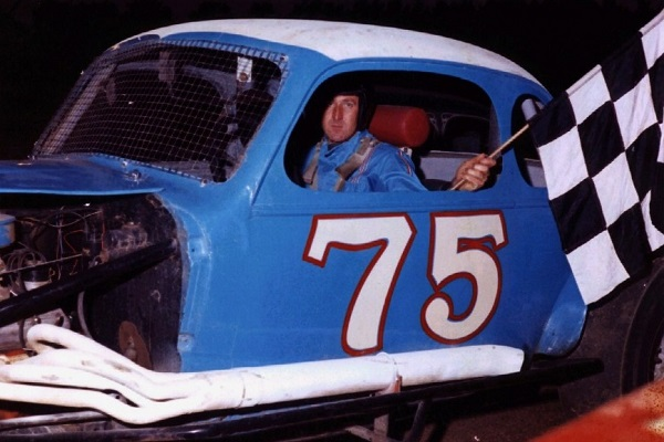 "Harmon ""Beaver"" Dragon with a Modified win in 1970"